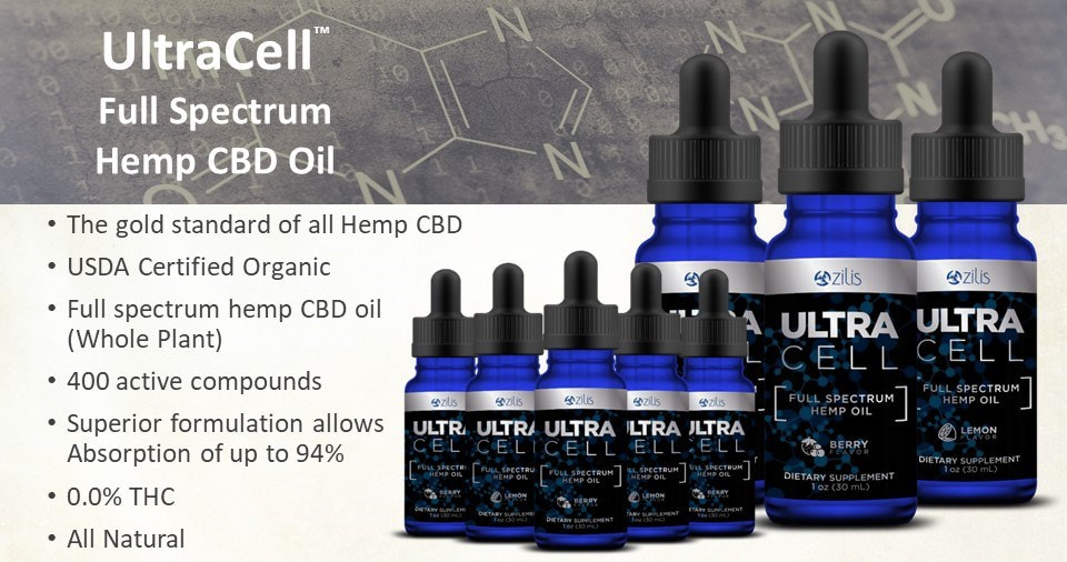 Ultracell Full Spectrum Hemp Cbd Oil Ultracell Organic